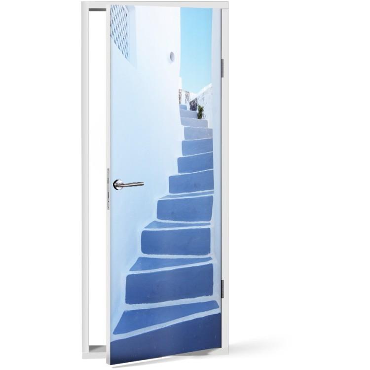 Αυτοκόλλητο Πόρτας Σκάλες στην Ελλάδα