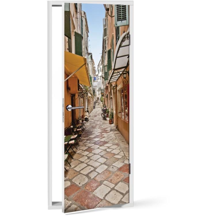 Αυτοκόλλητο Πόρτας Δρόμοι της πόλης της Κέρκυρας, Ελλάδα