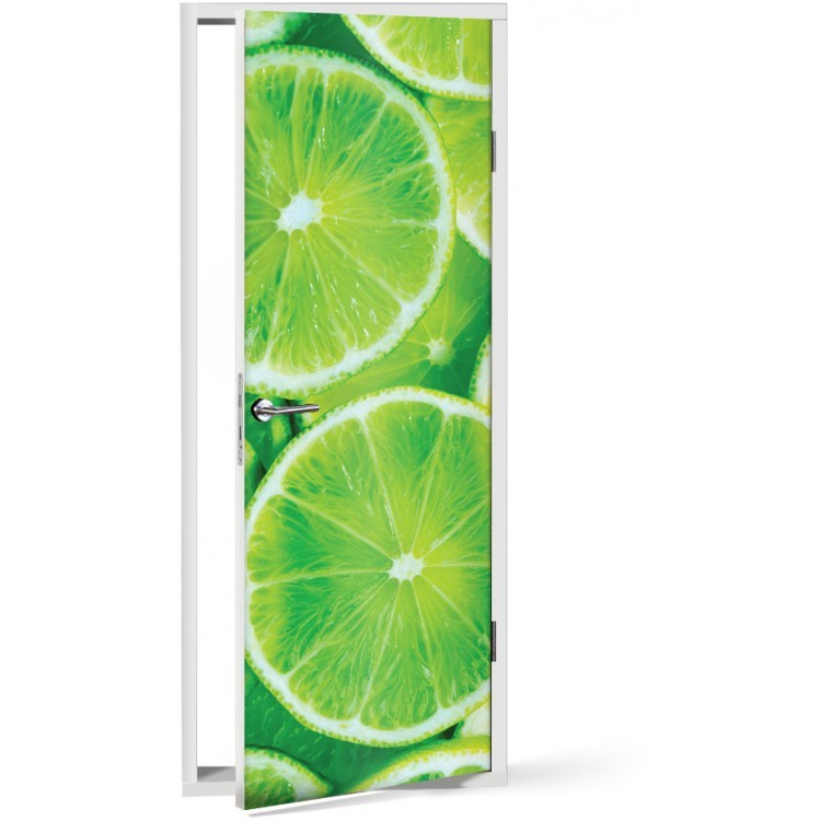 Αυτοκόλλητο Πόρτας Φέτες lime
