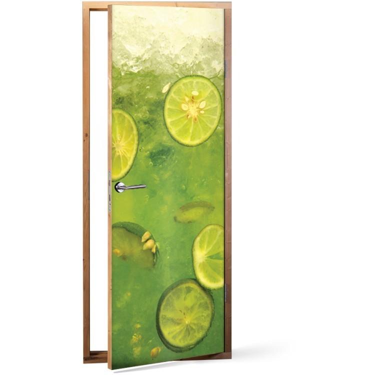 Αυτοκόλλητο Πόρτας Lime slices