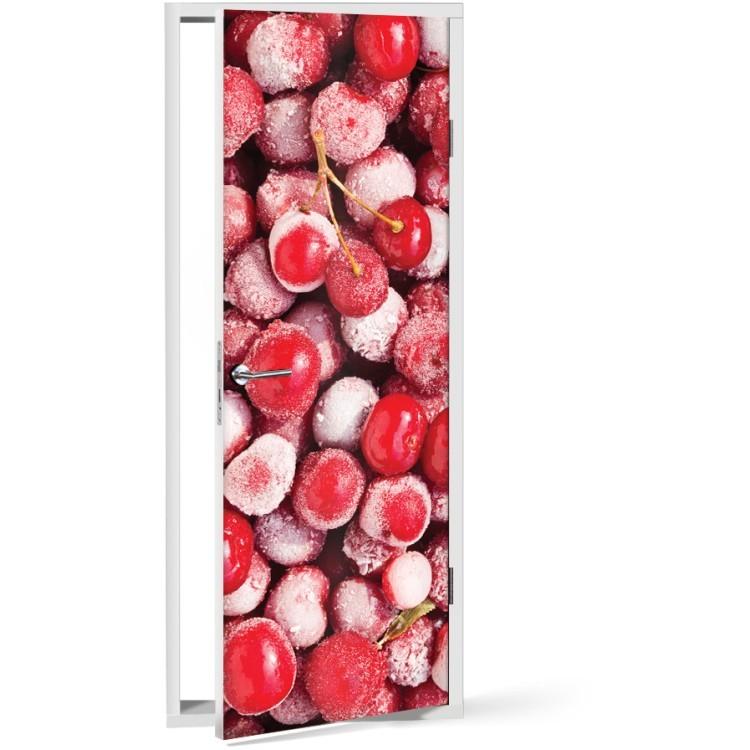 Αυτοκόλλητο Πόρτας Παγωμένα κεράσια