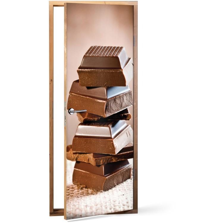 Αυτοκόλλητο Πόρτας Πύργος σοκολάτας