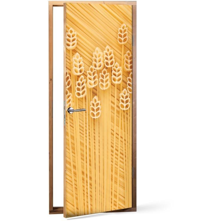 Αυτοκόλλητο Πόρτας Ζυμαρικά Design