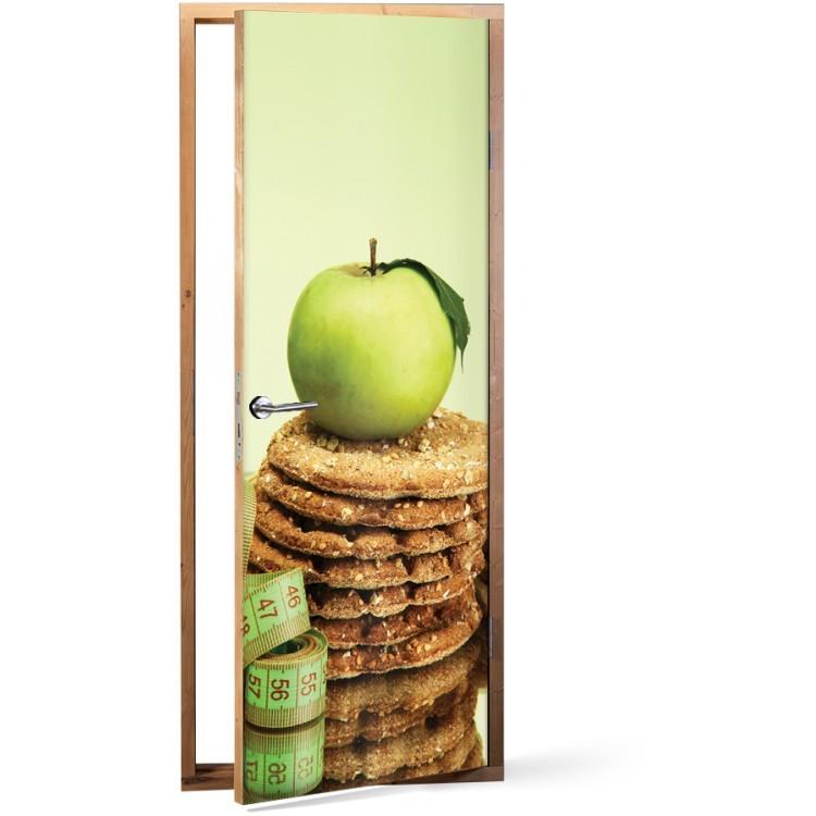 Αυτοκόλλητο Πόρτας Πράσινο μήλο