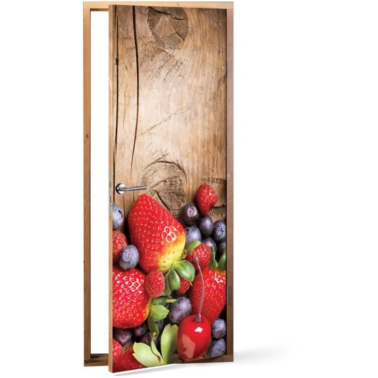 Αυτοκόλλητο Πόρτας Φρούτα