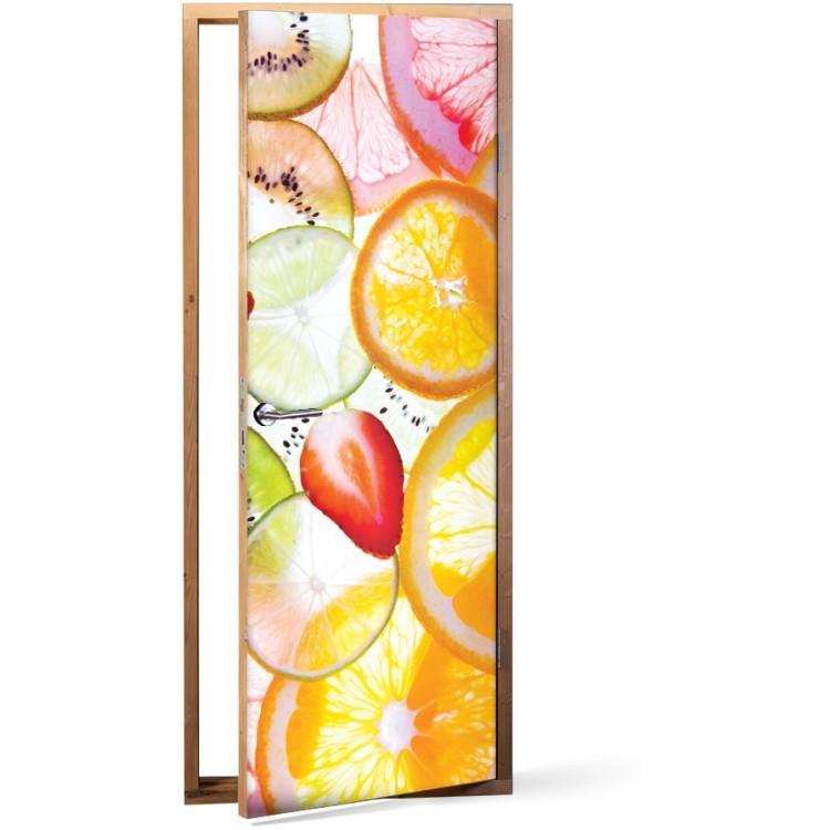 Αυτοκόλλητο Πόρτας Φέτες φρούτων