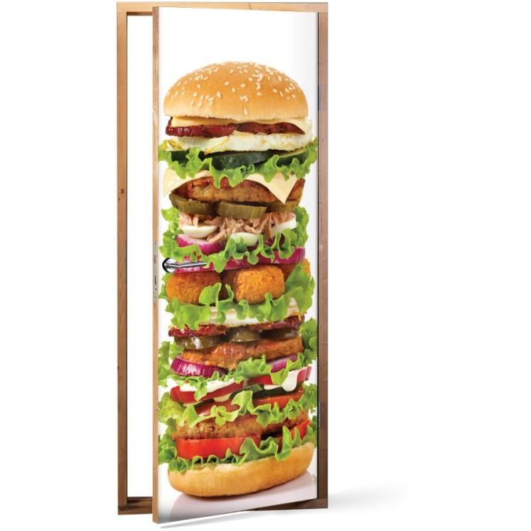 Αυτοκόλλητο Πόρτας King size burger