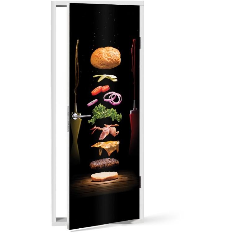 Αυτοκόλλητο Πόρτας Hamburger