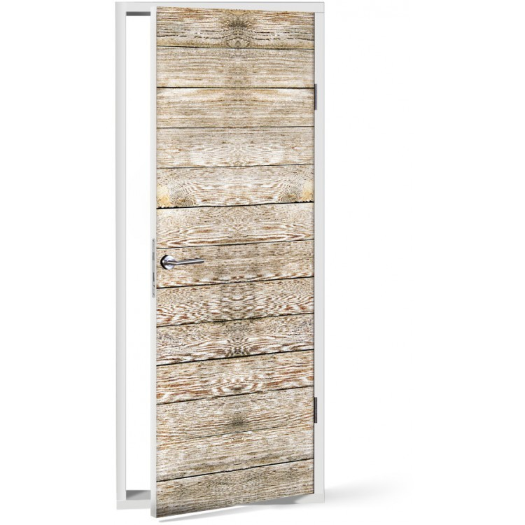 Αυτοκόλλητο Πόρτας Φυσικό ξύλο