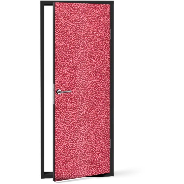 Αυτοκόλλητο Πόρτας Κόκκινο μοτίβο