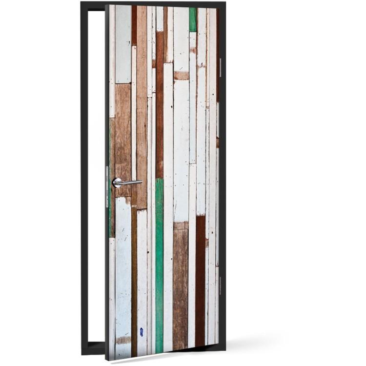 Αυτοκόλλητο Πόρτας Ξύλινο μοτίβο