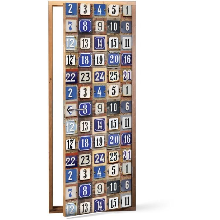 Αυτοκόλλητο Πόρτας Αριθμοί σπιτιών