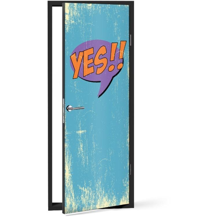 Αυτοκόλλητο Πόρτας Yes!!