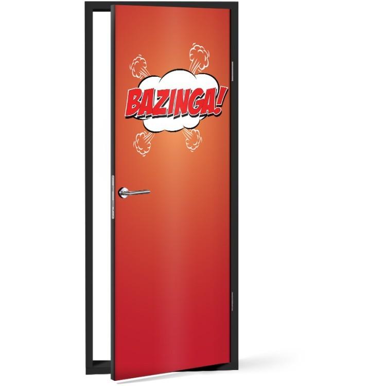 Αυτοκόλλητο Πόρτας Bazinga!