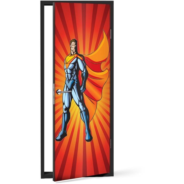 Αυτοκόλλητο Πόρτας Superman