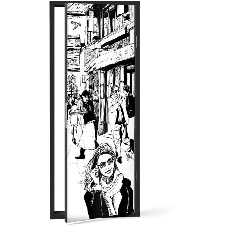 Αυτοκόλλητο Πόρτας Για ψώνια..