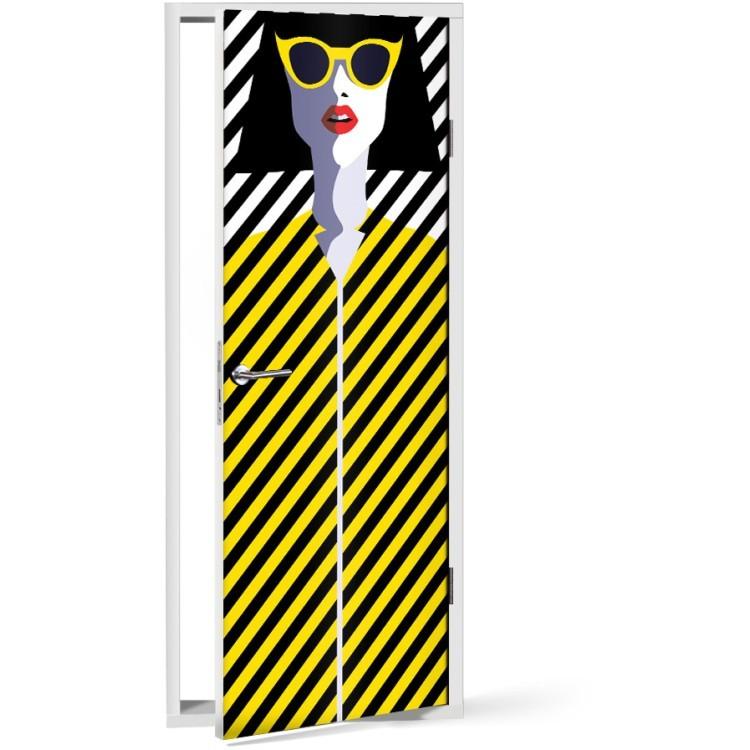 Αυτοκόλλητο Πόρτας Pin up