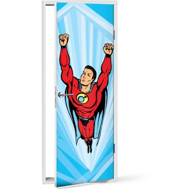 Αυτοκόλλητο Πόρτας Σούπερ Ήρωας