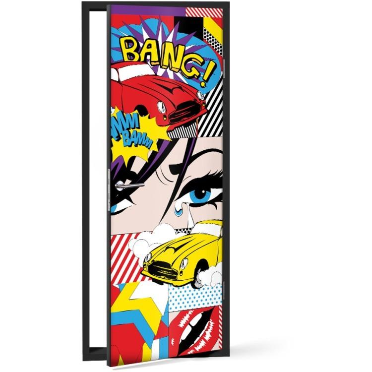 Αυτοκόλλητο Πόρτας Σκήνη από Κόμικς