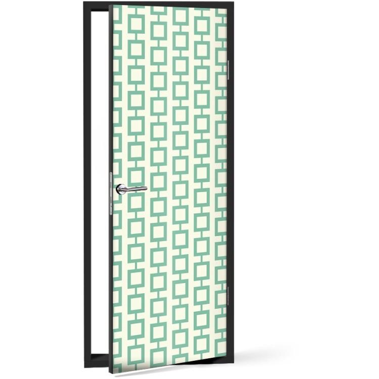 Αυτοκόλλητο Πόρτας Πράσινο μοτίβο