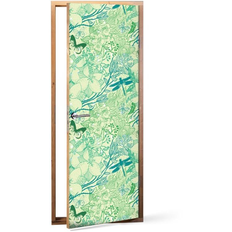 Αυτοκόλλητο Πόρτας Πράσινη Φύση