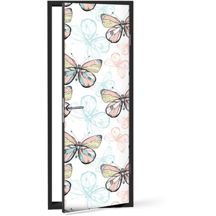 Αυτοκόλλητο Πόρτας Πεταλούδες
