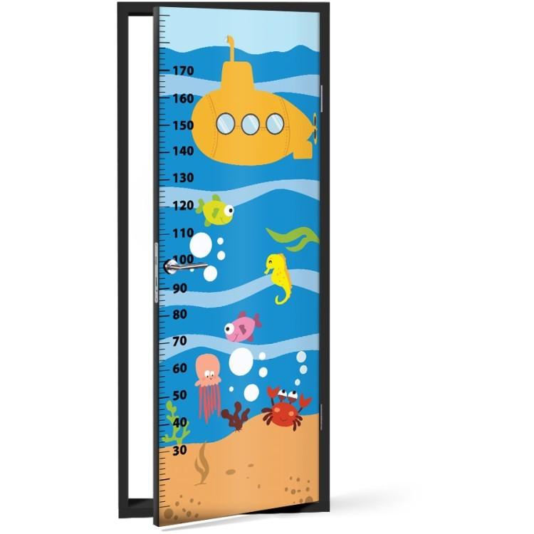Αυτοκόλλητο Πόρτας Βυθός Με Υποβρύχιο Υψόμετρο