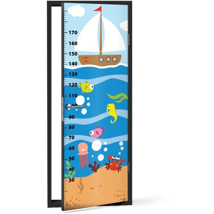 Αυτοκόλλητο Πόρτας Ωκεανός Υψόμετρο