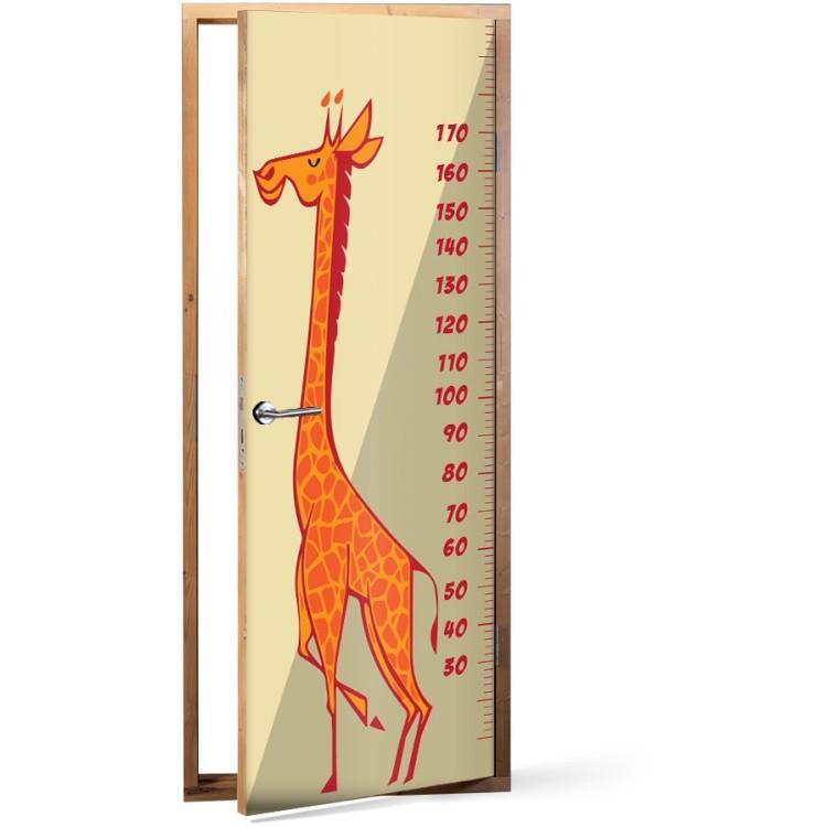 Αυτοκόλλητο Πόρτας Χαρούμενη Καμηλοπάρδαλη Υψόμετρο