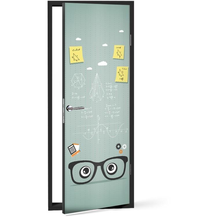 Αυτοκόλλητο Πόρτας I ♥ math!