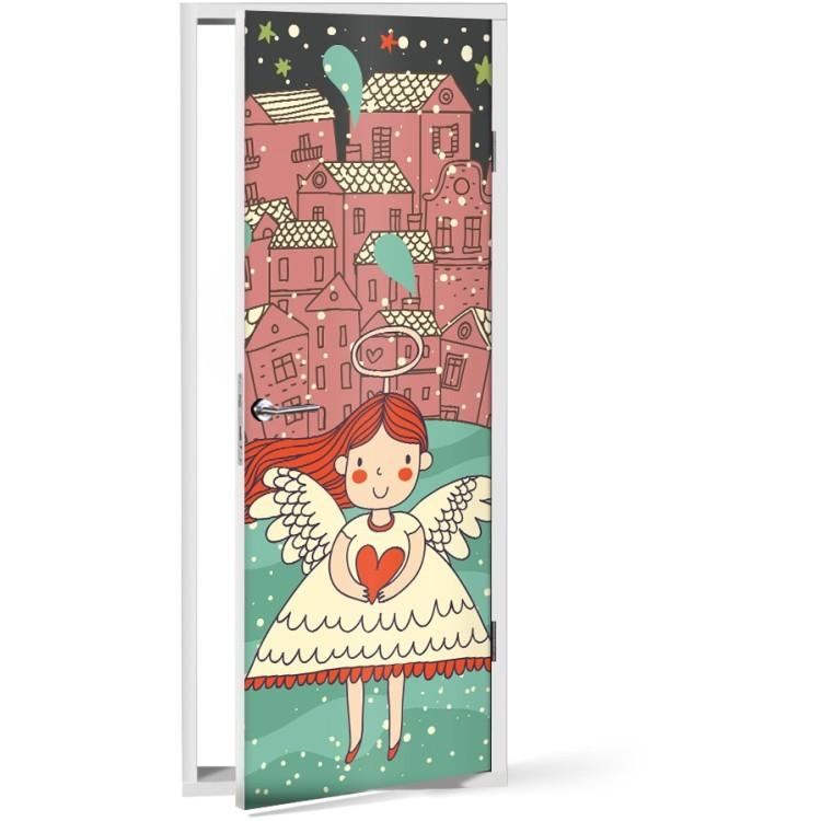 Αυτοκόλλητο Πόρτας Μικρό αγγελούδι
