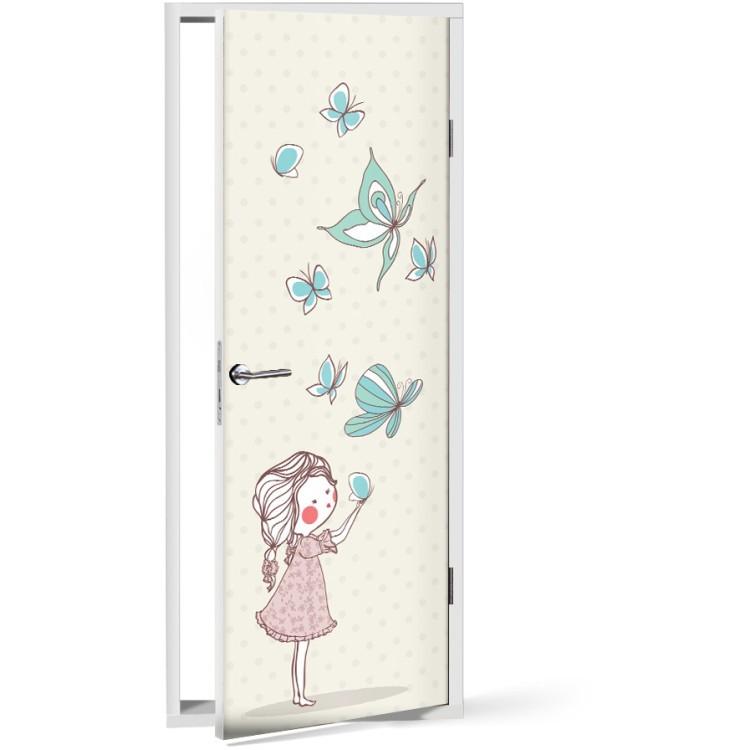 Αυτοκόλλητο Πόρτας Koρίτσι