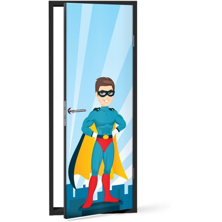 Αυτοκόλλητο Πόρτας Superman με γυαλιά