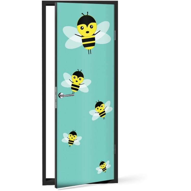 Αυτοκόλλητο Πόρτας Μελισσάκια