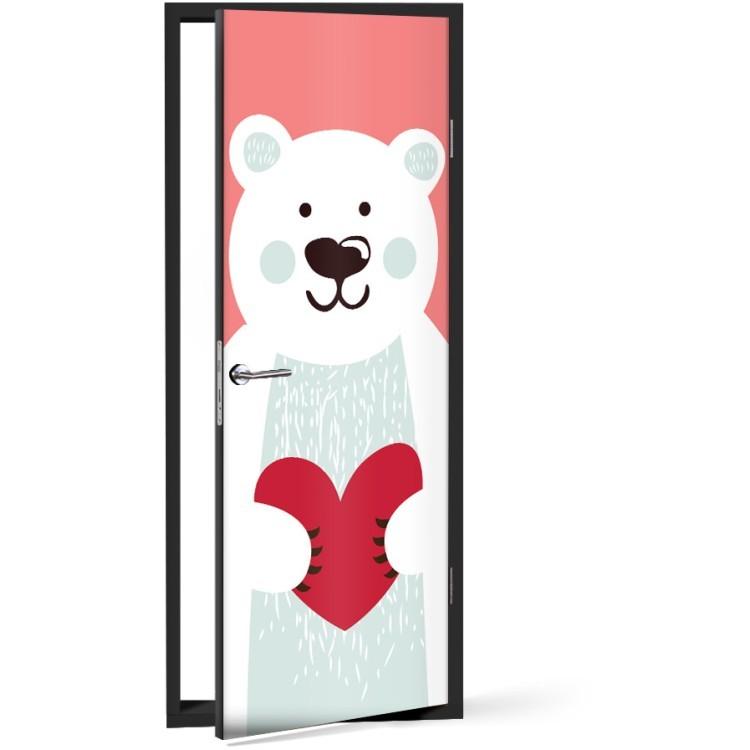 Αυτοκόλλητο Πόρτας Xαριτωμένο Αρκουδάκι