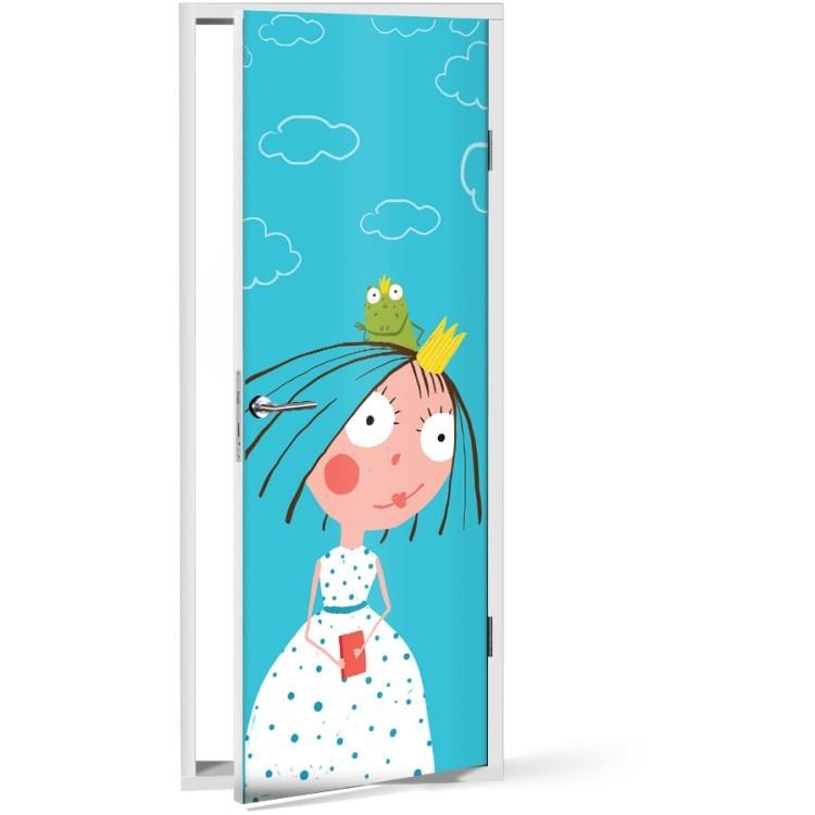 Αυτοκόλλητο Πόρτας Μικρή Πριγκίπισσα