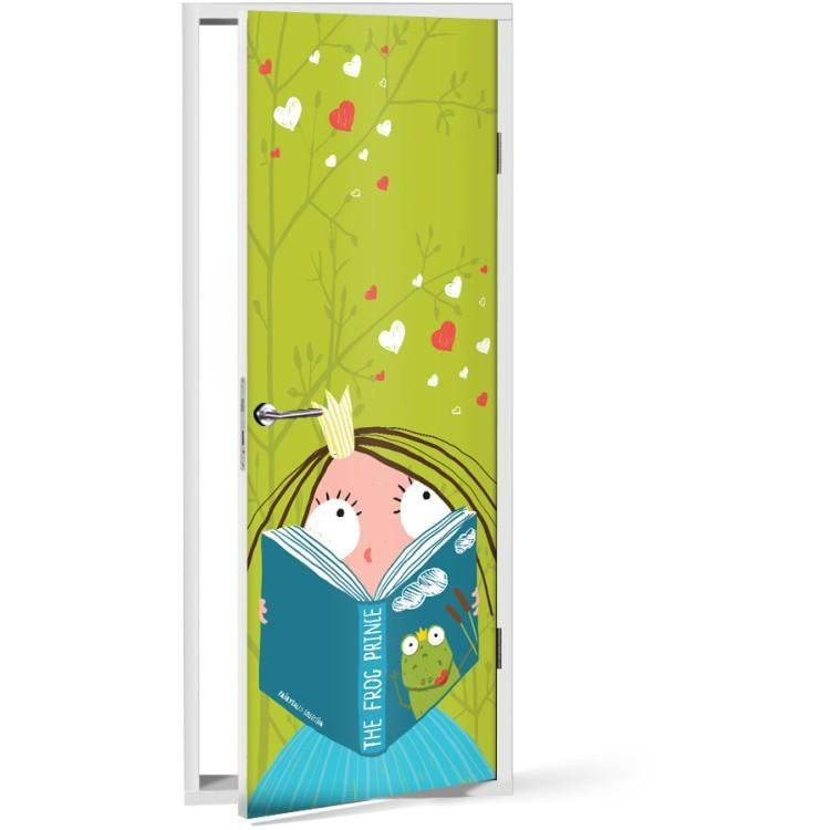 Αυτοκόλλητο Πόρτας Ώρα για διάβασμα