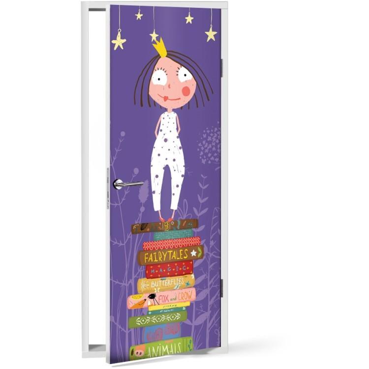 Αυτοκόλλητο Πόρτας Πριγκίπισσα των βιβλίων