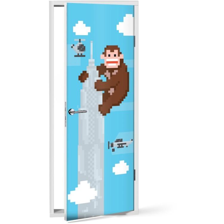 Αυτοκόλλητο Πόρτας King Kong