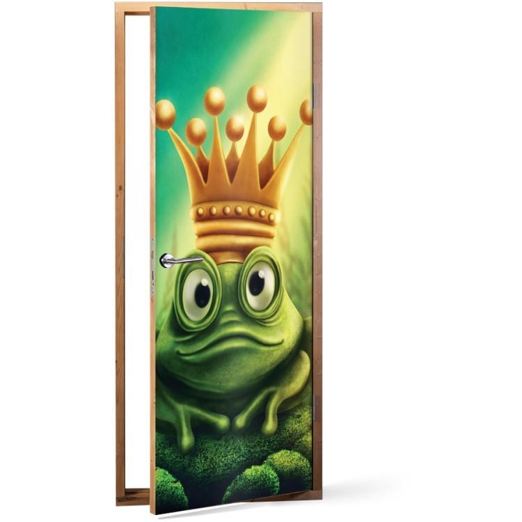 Αυτοκόλλητο Πόρτας Πρίγκιπας Βάτραχος