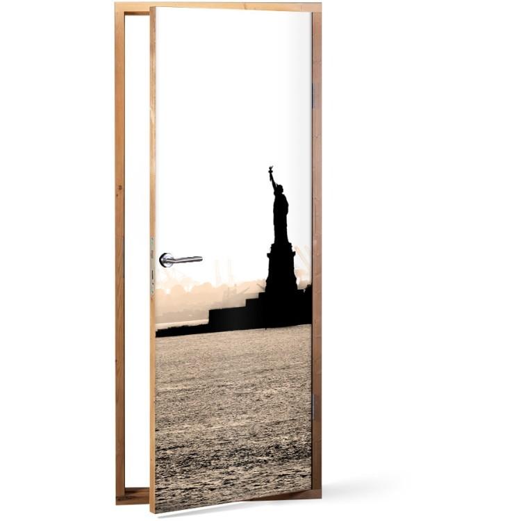 Αυτοκόλλητο Πόρτας Statue of liberty