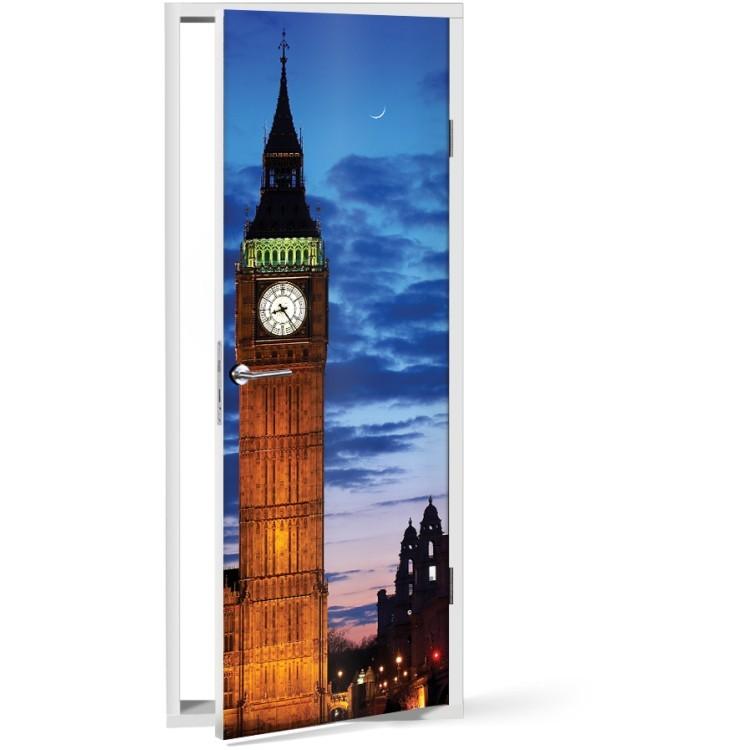 Αυτοκόλλητο Πόρτας Big Ben Clock