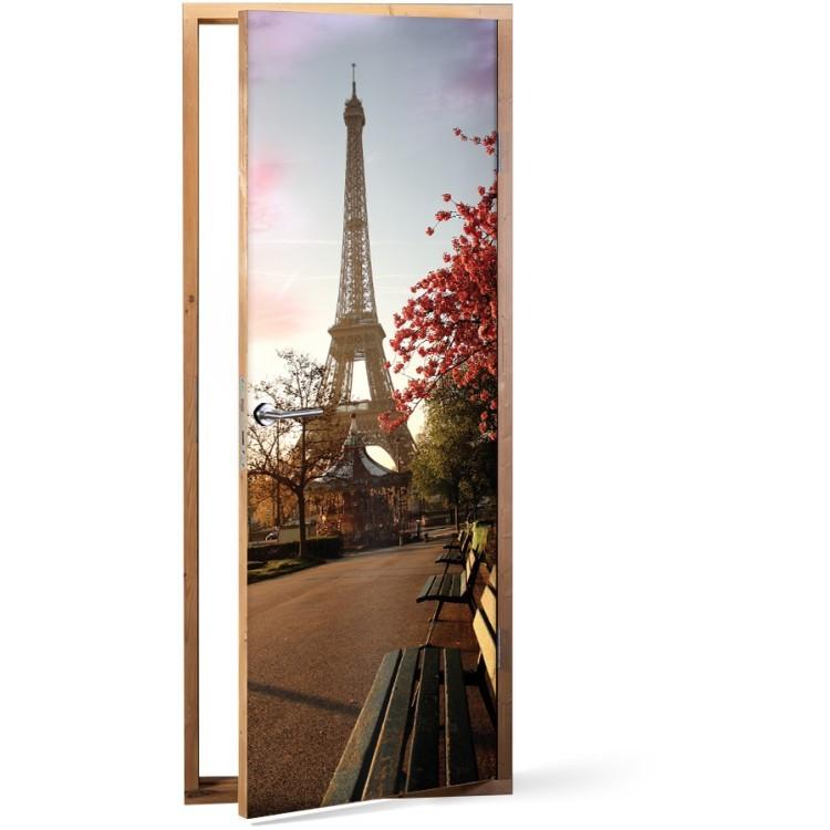Αυτοκόλλητο Πόρτας Άνοιξη στο Παρίσι