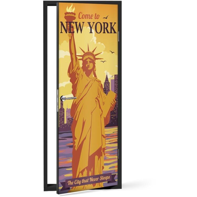 Αυτοκόλλητο Πόρτας Come to New York