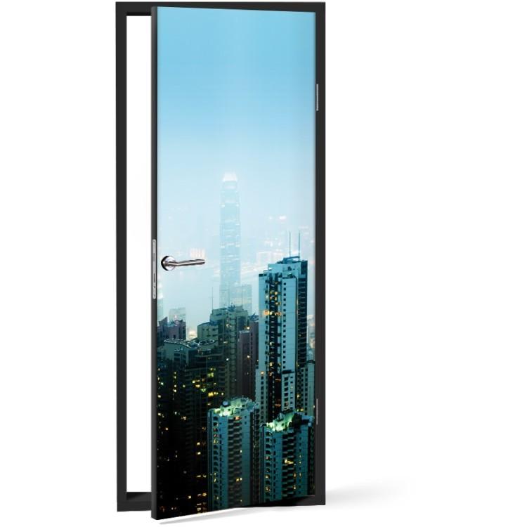 Αυτοκόλλητο Πόρτας Ουρανοξύστες