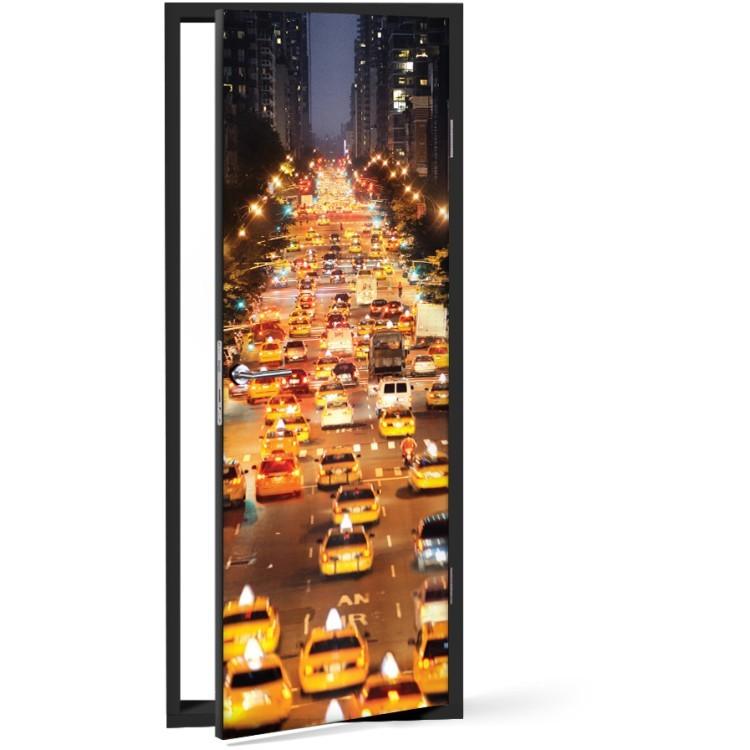 Αυτοκόλλητο Πόρτας Δρόμος της Νέας Υόρκης