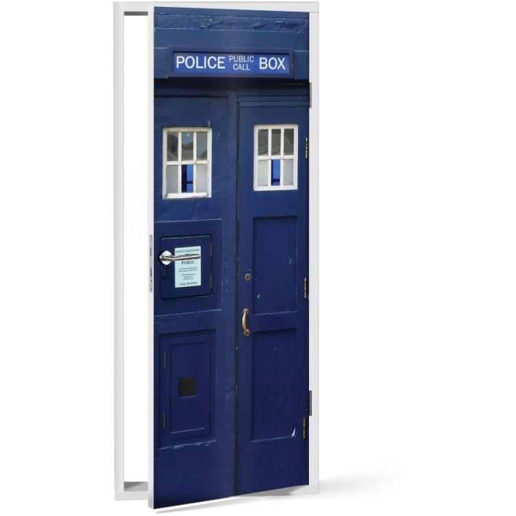 Αυτοκόλλητο Πόρτας Police box