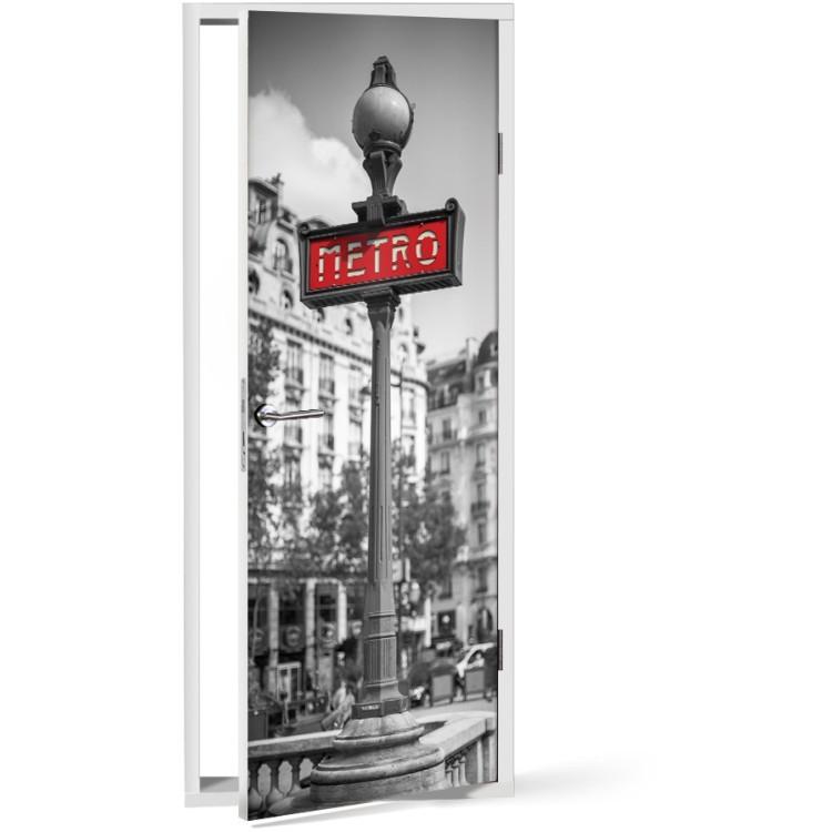 Αυτοκόλλητο Πόρτας Μετρό στο Παρίσι