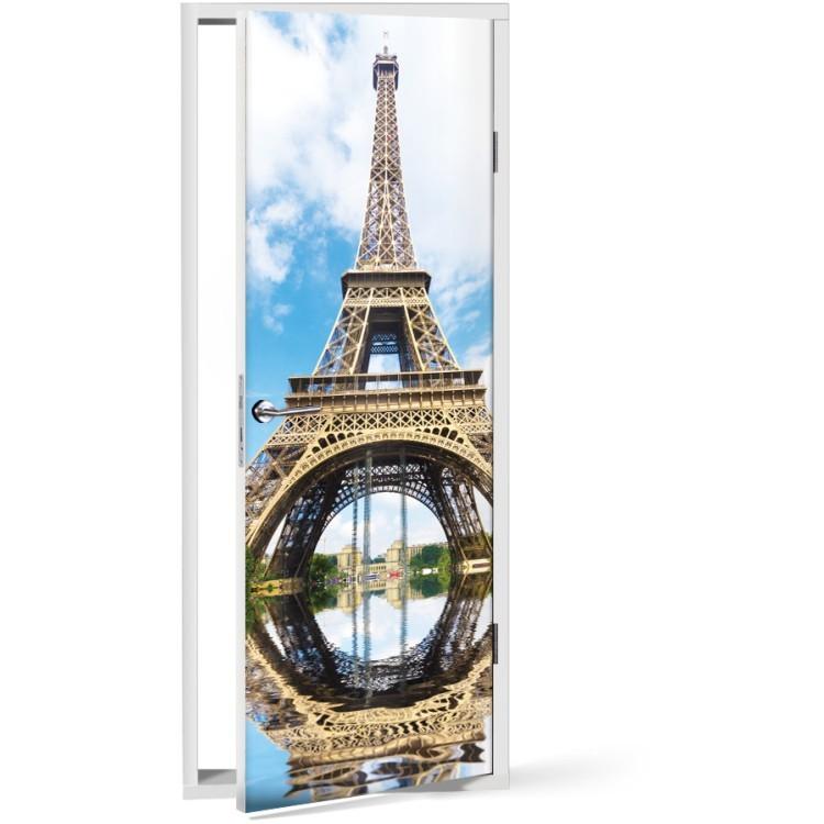 Αυτοκόλλητο Πόρτας Πύργος του Άιφελ Mirror