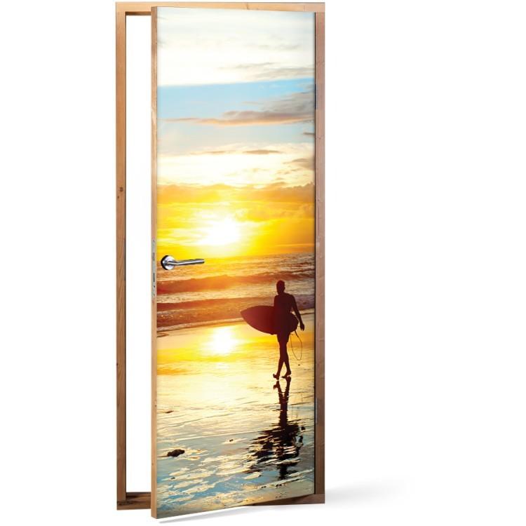 Αυτοκόλλητο Πόρτας Μπαλί ηλιοβασίλεμα